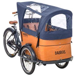 Protection pluie pour vélo cargo Babboe Curve-e