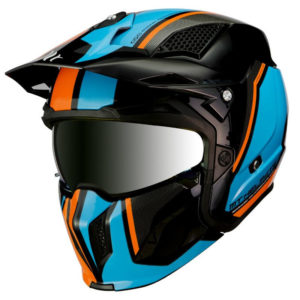 Casque Trial MT Street Fighter SV Twin – Bleu Ciel