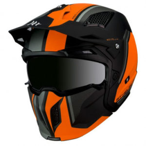 Casque trial MT Street Fighter SV Twin – Orange