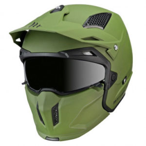 Casque trial MT street fighter SV twin – Vert KAKI Mat