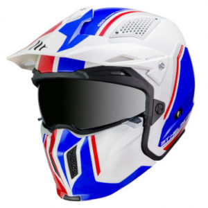 Casque Trial MT Street Fighter SV Twin – Blanc Brillant