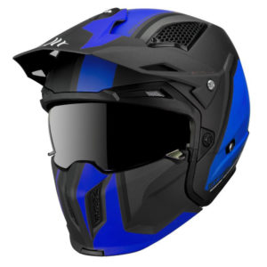 Casque Trial MT Street Fighter SV Twin – Bleu Nuit