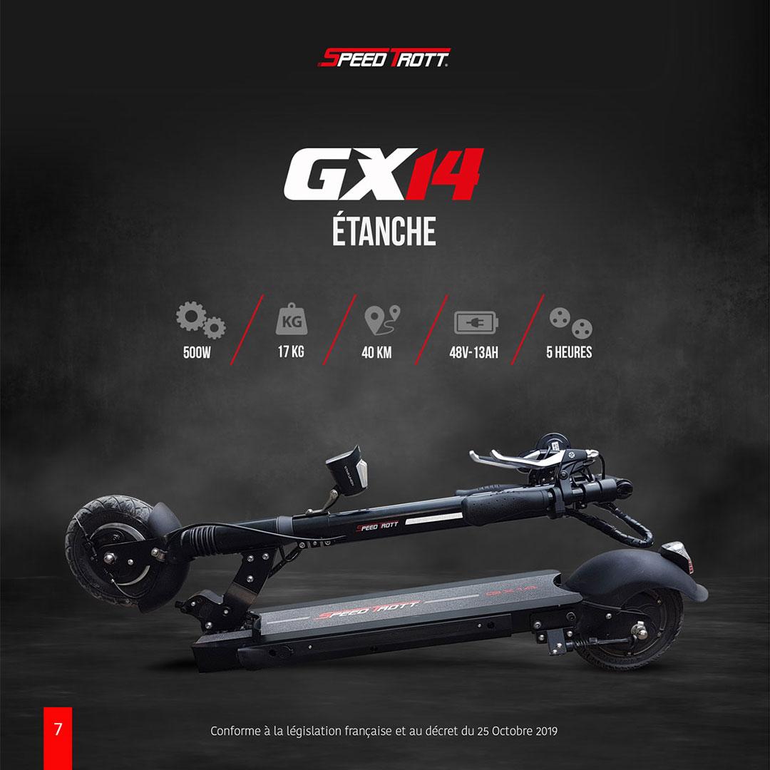 Trottinette électrique adulte étanche : Speedtrott GX14